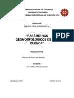 Informe Parámetros Geomorfologicos de Una Cuenca