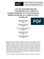 Medição de Desempenho Do Sistema de Produção Agricola