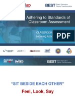 1Adhering to Standards of Classroom Assessment 102918