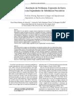 2013. ALMEIDA Et Al. Ideação Suicida, Resolução de Problemas, Expressão de Raiva e Impulsividade Em Dependentes de Substâncias Psicoativas