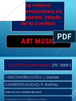 La Música Contemporánea en El Presente. Estado de La Cuestión