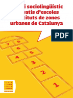 Estudi Sociolinguistic Als Patis Descoles i Instituts de Zones Urbanes de Catalunya