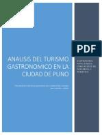 Analisis Del Turismo Gastronomico en La Ciudad de Puno