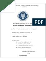 Informe de Irrigacion y Drenaje