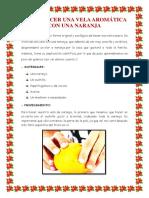 Cómo Hacer Una Vela Aromática Con Una Naranja