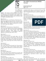 Ansi Standardised Msds Format