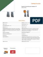 Ficha Tecnica de Guantes de carnasa (soldador)