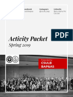 Spring 2019 Activity Packet