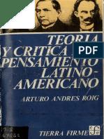 Teoria Critica Pensamiento-Arturo Roig