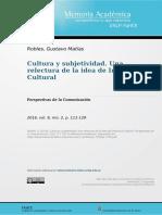 Cultura y subjetividad