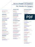 Revere Chamber Members as of 11-4-2010
