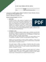 Informe 10 Prueba de Caracterización de Aminas