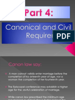 Part 4 Canonical and Civil Requirements