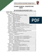 Especificaciones Tecnicas Huilloc ARQUITECTURA (1)