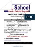 Oracle DBA Classroom Training