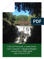 City of Norwich, Connecticut City Council's Adopted Budget Fiscal Year 2019-2020 (Approved June 10, 2019)