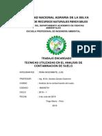 TECNICAS UTILIZADAS EN EL ANALISIS DE CONTAMINACION DE SUELO