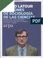 Bruno Latour - Lecciones de sociología de las ciencias