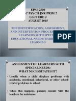 Psp2500 Epsp 2500 Educational Psychology Jnr Prim 2 Lecture 2