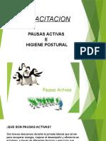 Capacitacion Pausas Act Higiene Postural