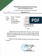 Surat Tim Medis Dan Jadwal Operasi Ketupat Pusk.tepian Baru