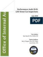 Audit 1901 Street Cuts