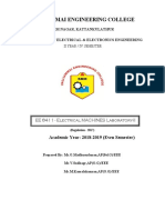 Electrical machine lab manual