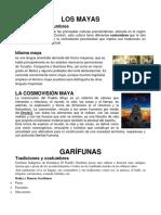 4 Culturas de Guatemala Cultura Idioma Cosmovision Resumido 3 Hojas