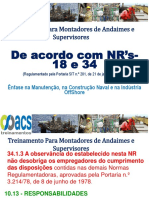 Curso Montadores de Andaimes - Const. Naval NR 34