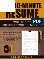 The 30 Minute Resume