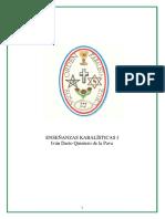 ENSEÑANZAS CABALISTICAS Iván Darío Quintero de la Pava