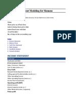 Work Sample Siemens_Financial Model