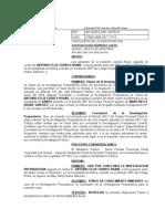 Disposicion de Conclusion de Investigacion Preparatoria