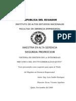 Sistema de Gestion Ducto Esmeraldas Quito