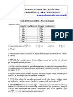 Exercicios arcos trigonometricos