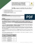 1 Retificacao Pm de Arinos Mg Edital Concurso Publico 01 2018