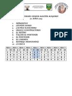 Fixture Torneo Senior Master Mayores 50 Años