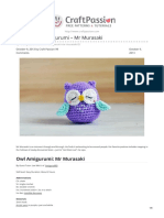 Owl Amigurumi Mr Murasaki Pattern