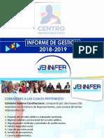 Presentación Informe de Gestion 2018-2019 Hr Jenifer Arias