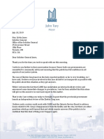 Mayor Letter to Minister Jones July 18 2019