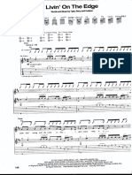 Livin' On The Edge - guitar tab and score