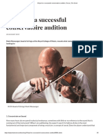 Tips for violin audition