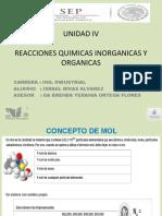 Reacciones quimicas organicas e inorganicas unidad 4