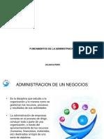 FUNDAMENTOS DE LA ADMINISTRACIÓN
