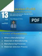 Modul 13. Materials Manufacturing Process Design