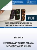Sesion 02 - Estrategias y Pautas Para La Implementacion