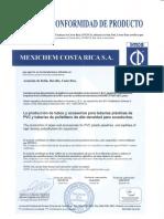 Certificados de Calidad de Producto AMANCO 2016-2018