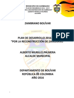 PLAN DE DESARROLLO 2016-2019 ZAMBRANO