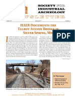 Articles about documenting the Talbot Avenue Bridge for the Historic American Engineering Record (HAER)