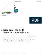 13 ramos de cooperativismo